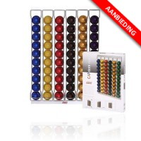 CAPstore Fila capsule opbergsysteem van Tavola Swiss voor Nespresso capsules - 60 capsules wandmodel