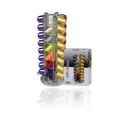 CUPCAPstore capsule opbergsysteem van Tavola Swiss voor Nespresso + 6 kopjes - 32 capsules